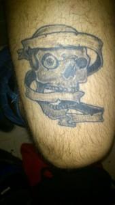 Tatuaje en muslo